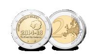 De meeste gewilde 2-Euro Herdenkingsmunten, Eerste wereldoorlog, ww1, ww2, Belgie 2014
