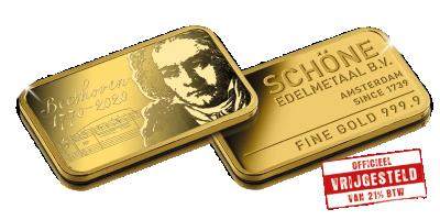 Beethoven VIP-set in puur goud