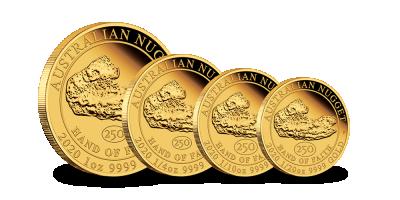 4-delige set 24-karaats gouden Nuggets 2020