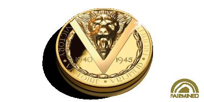 75 jaar Vrijheid in 1/4 Ounce Puur Fairmined Goud