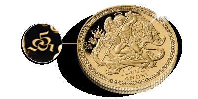 1/10 Ounce Jubileum Engel-munt in puur 24-karaats goud
