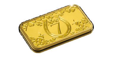 Uw 1/100 Oz puur gouden geluks goudbaar