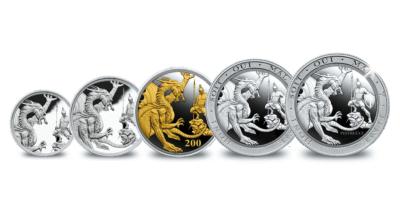 5-delige set zilveren soevereinen 2020